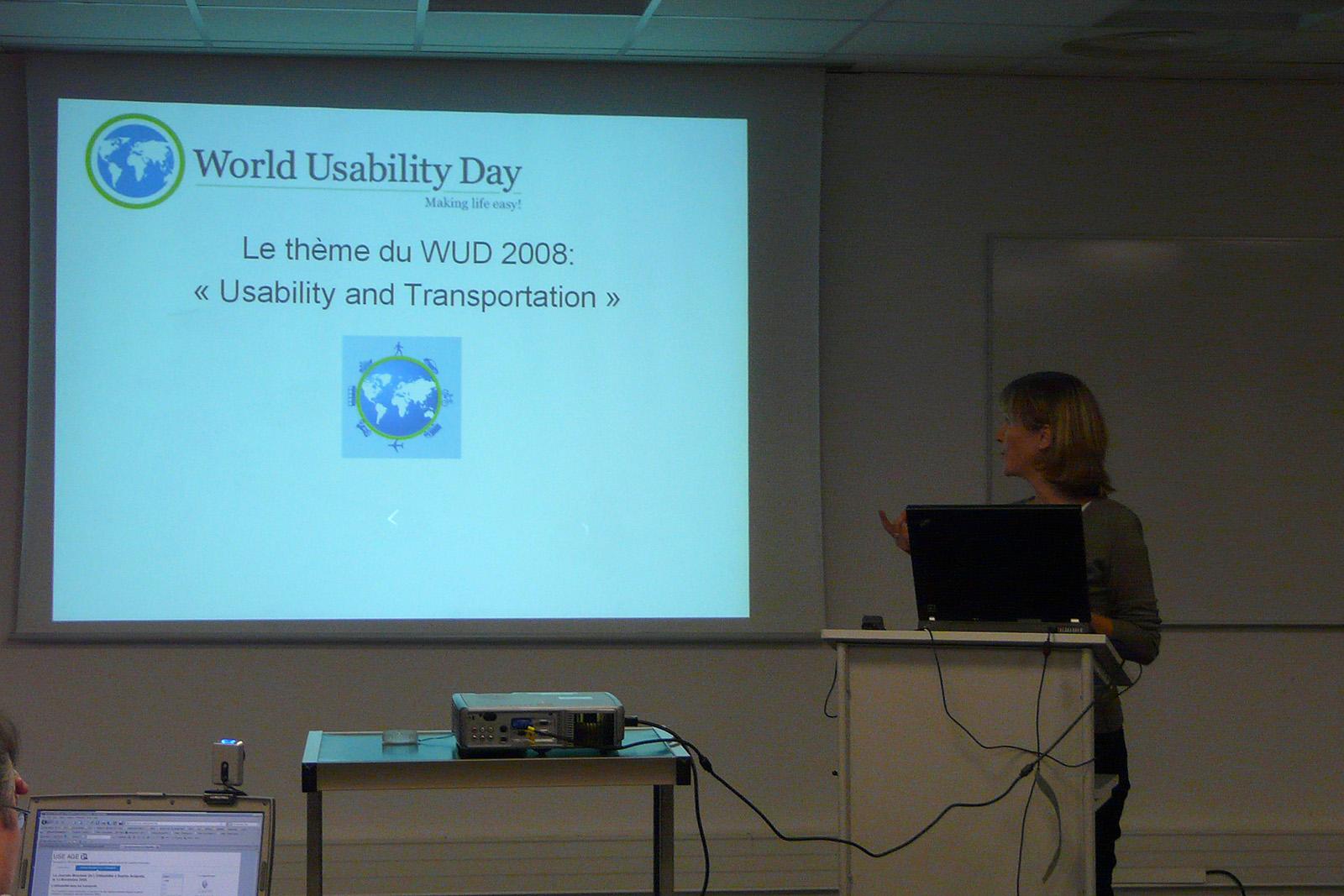 WUD 2008 : L'utilisabilité dans les transports